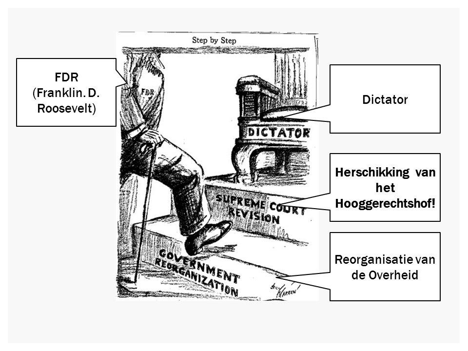 RESULTATEN VAN DE NEW DEAL  Wisselend succes (crisis pas opgelost tijdens WOII)  Overheid grijpt in op economisch gebied  Democraten komen op voor de zwakkeren en meer sociale wetgeving  Grotere rol voor de president (angst voor Imperial precidency)