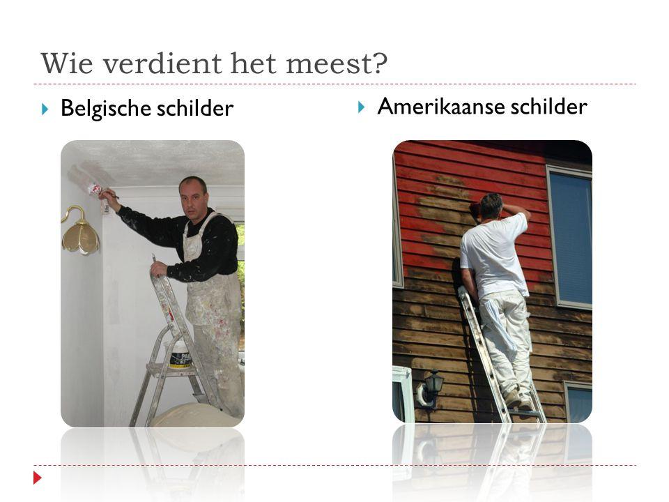 Wie verdient het meest  Belgische schilder  Amerikaanse schilder