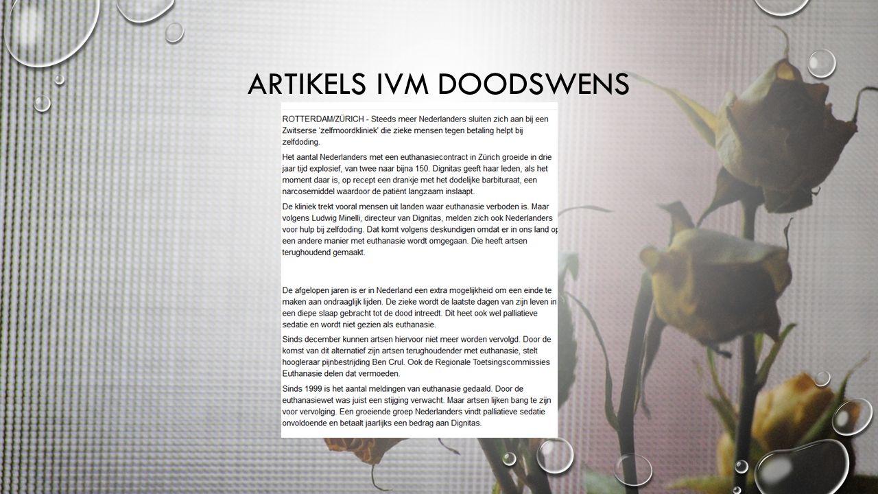 ARTIKELS IVM DOODSWENS