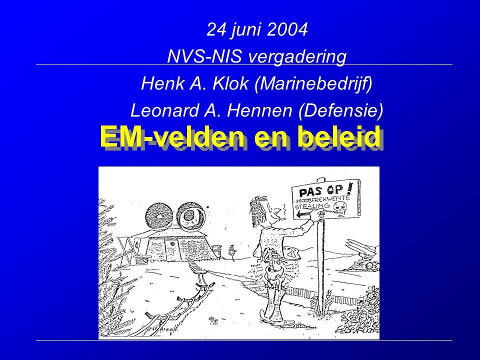 EM-velden en beleid 24 juni 2004 NVS-NIS vergadering Henk A.