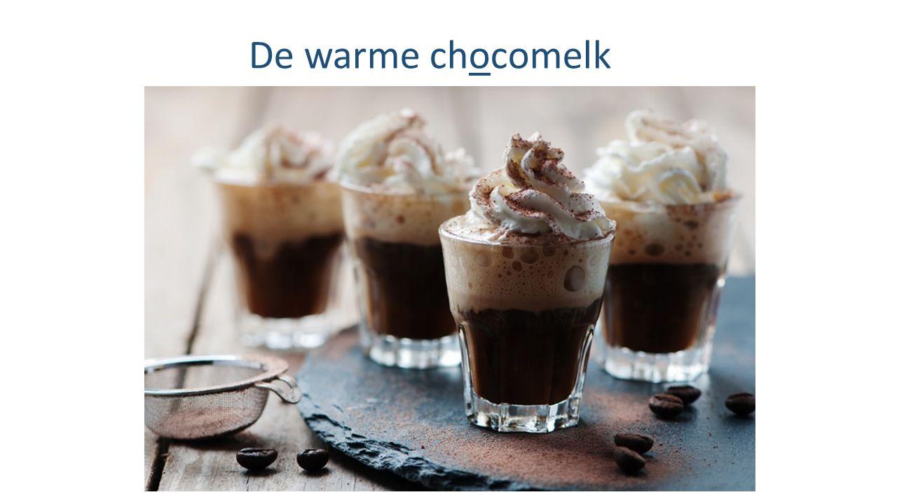 De warme chocomelk