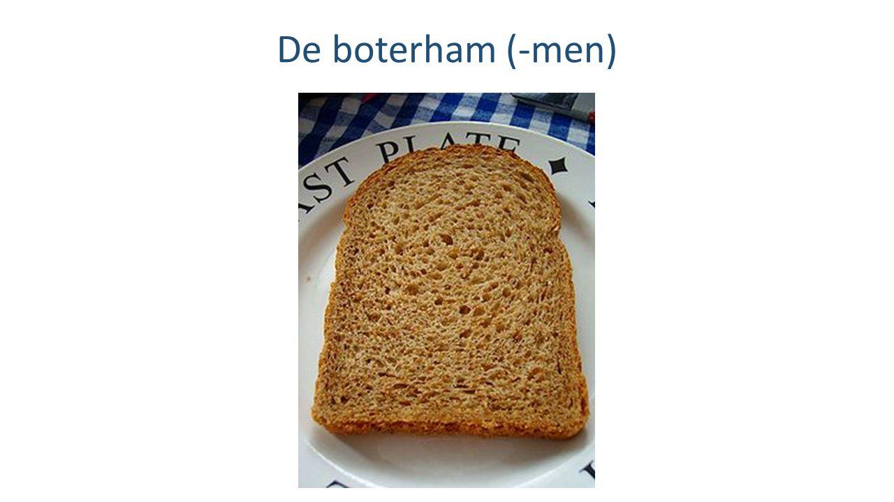 De boterham (-men)
