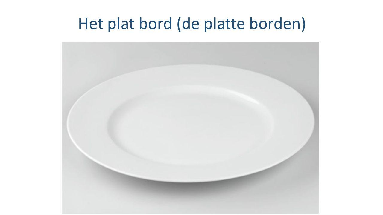 Het plat bord (de platte borden)