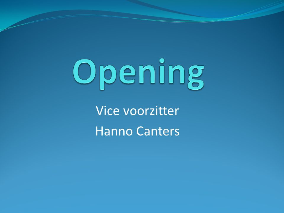 Vice voorzitter Hanno Canters