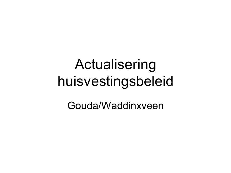 Actualisering huisvestingsbeleid Gouda/Waddinxveen