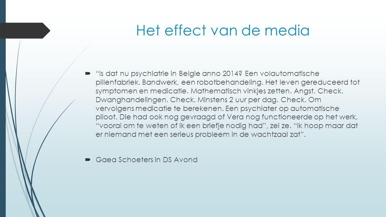  Is dat nu psychiatrie in Belgie anno 2014. Een volautomatische pillenfabriek.