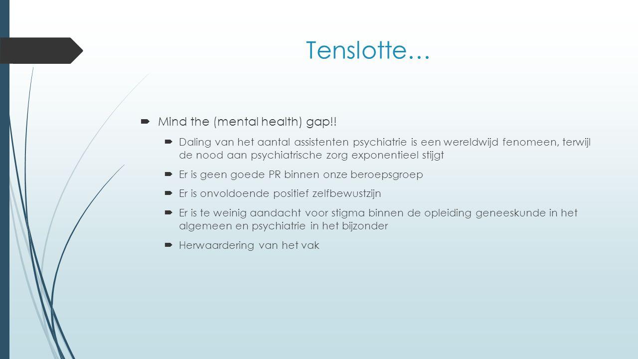 Tenslotte…  Mind the (mental health) gap!.