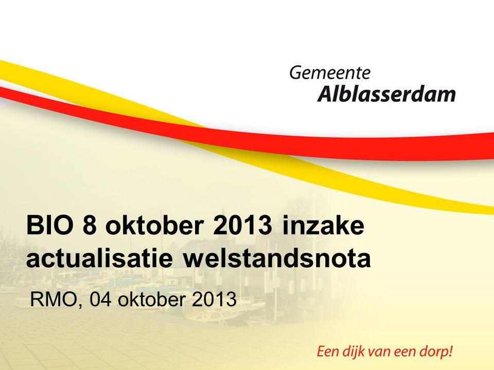 BIO 8 oktober 2013 inzake actualisatie welstandsnota RMO, 04 oktober 2013