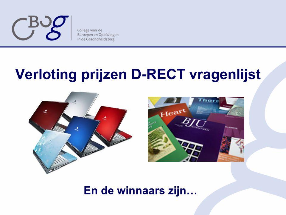 Verloting prijzen D-RECT vragenlijst En de winnaars zijn…