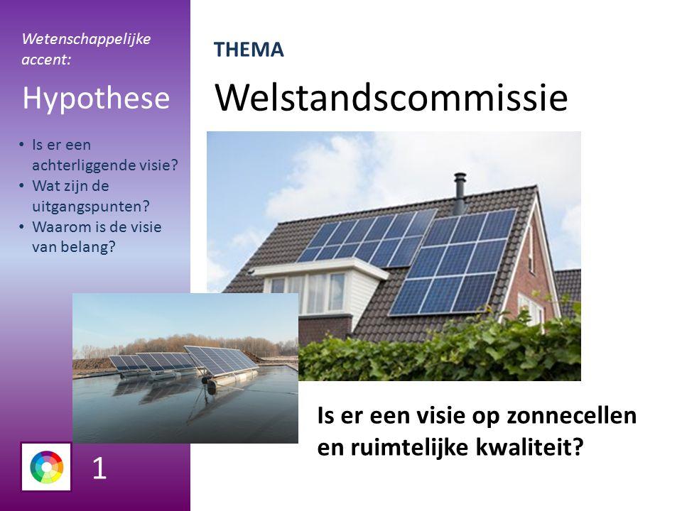 Welstandscommissie Hypothese Is er een visie op zonnecellen en ruimtelijke kwaliteit.