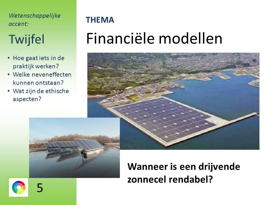 Financiële modellen Twijfel Wanneer is een drijvende zonnecel rendabel.