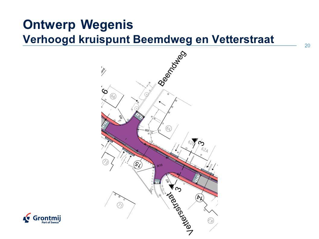 20 OntwerpWegenis Verhoogd kruispunt Beemdweg en Vetterstraat