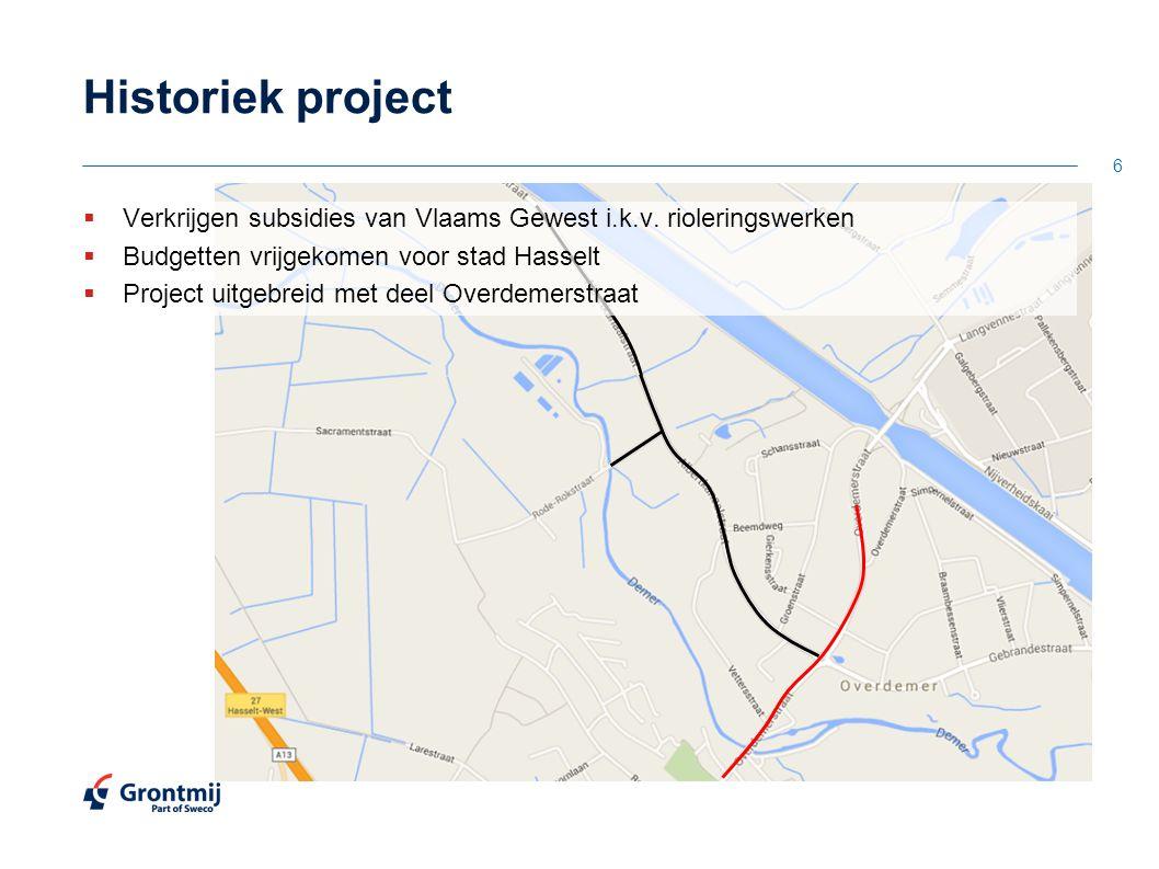 27 OntwerpWegenis Overdemerstraat richting Albertkanaal: Algemeen profiel