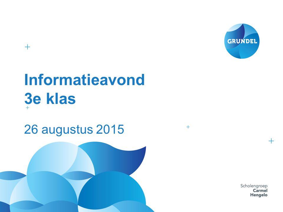 Informatieavond 3e klas 26 augustus 2015