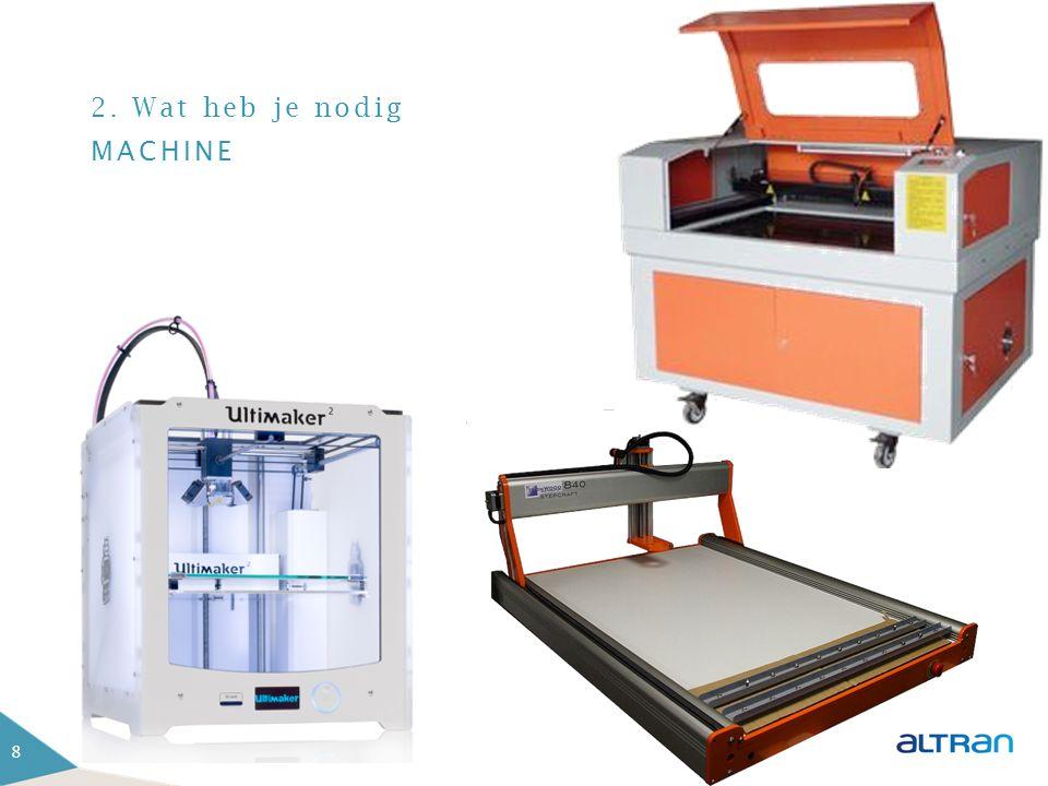 2. Wat heb je nodig KENNIS VAN JE MACHINE 2D 2,5D 3D