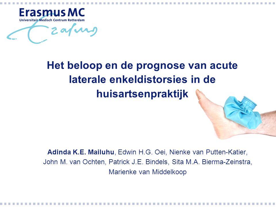 Het beloop en de prognose van acute laterale enkeldistorsies in de huisartsenpraktijk Adinda K.E.