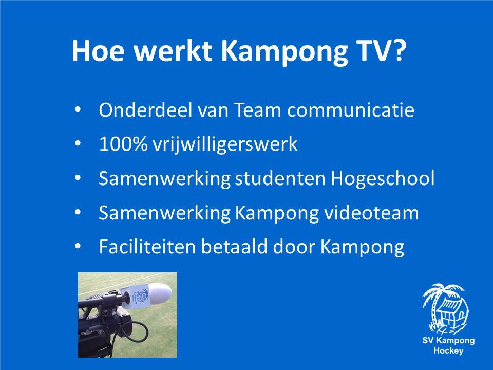 Hoe werkt Kampong TV.