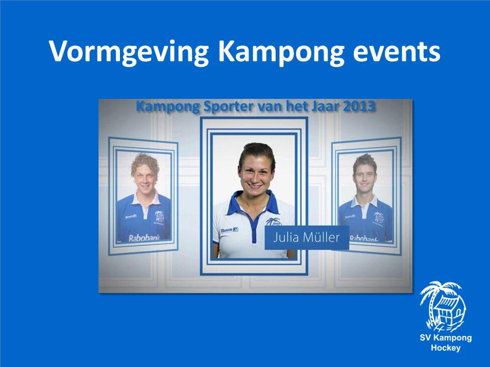 Vormgeving Kampong events Kampong Sporter van het Jaar 2013