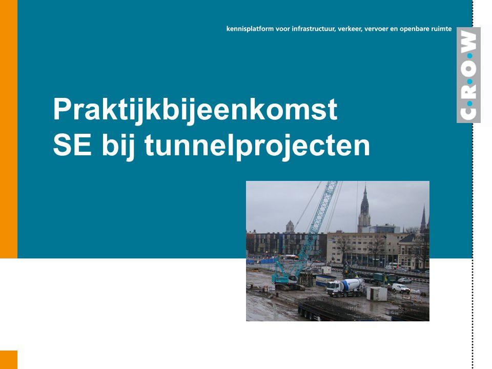 Praktijkbijeenkomst SE bij tunnelprojecten