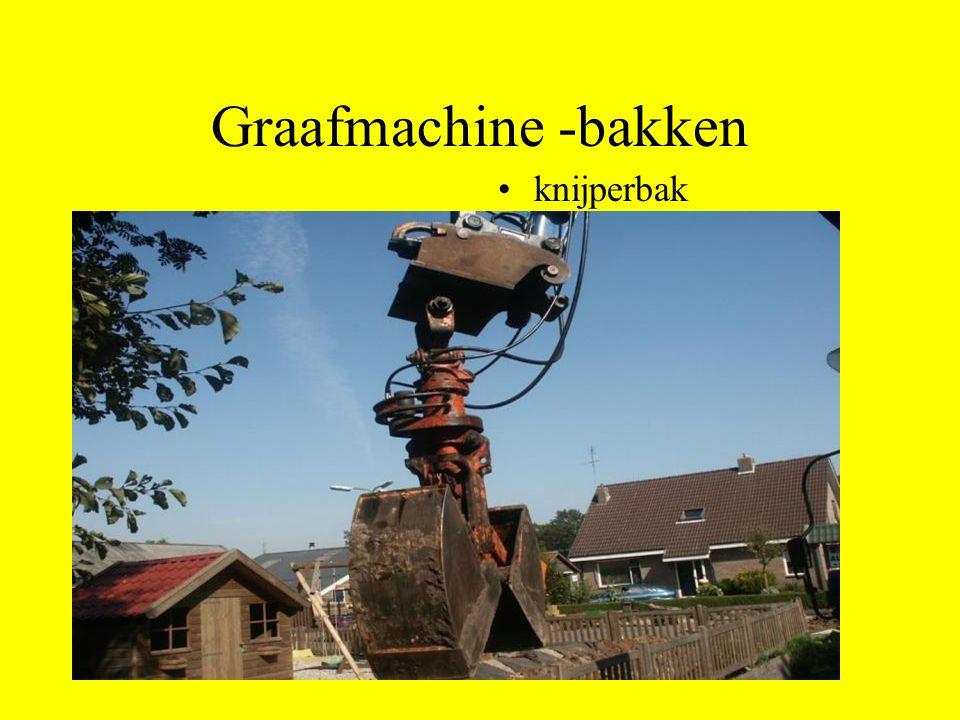 Graafmachine -bakken knijperbak