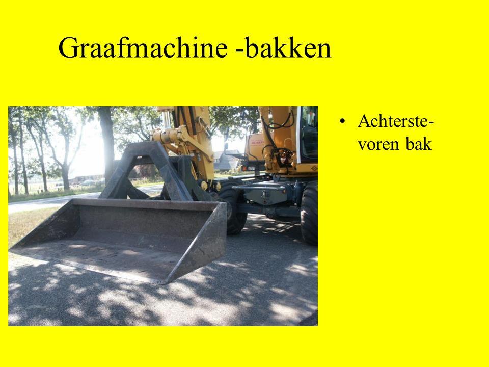 Achterste- voren bak Graafmachine -bakken