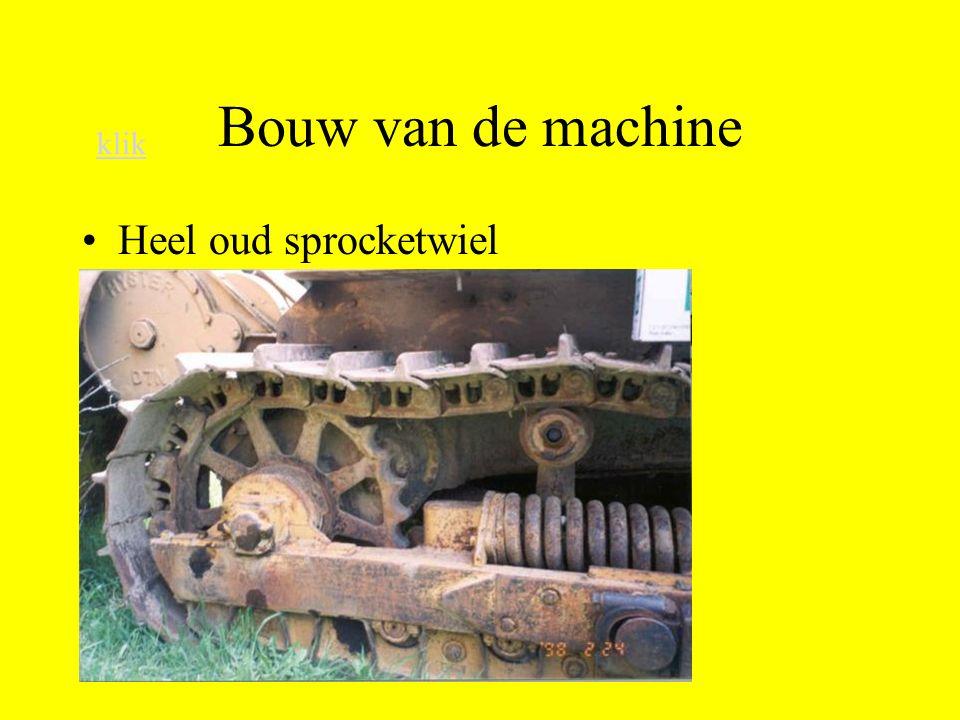 Bouw van de machine Heel oud sprocketwiel klik