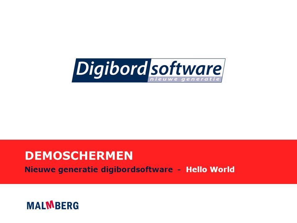 DEMOSCHERMEN Nieuwe generatie digibordsoftware - Hello World