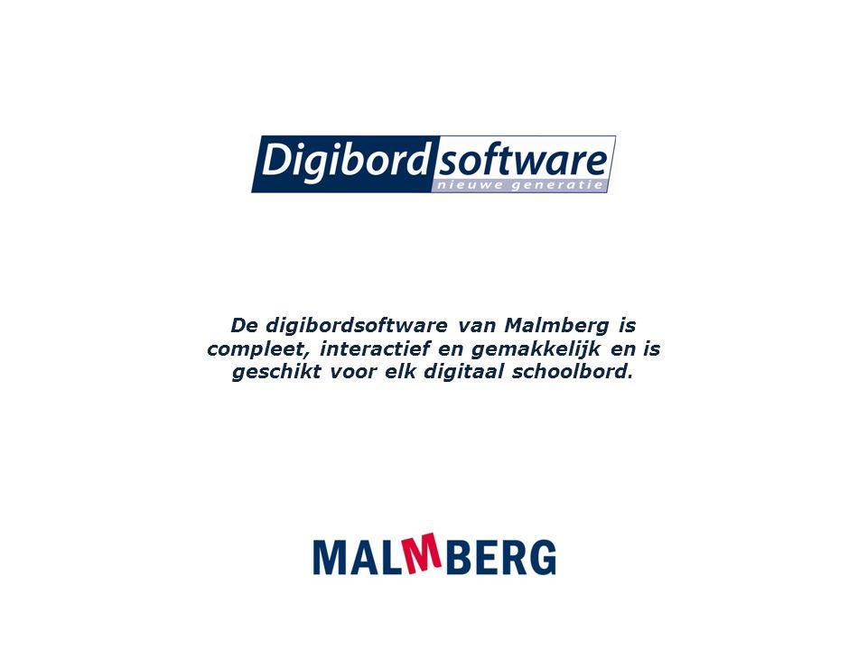 De digibordsoftware van Malmberg is compleet, interactief en gemakkelijk en is geschikt voor elk digitaal schoolbord.