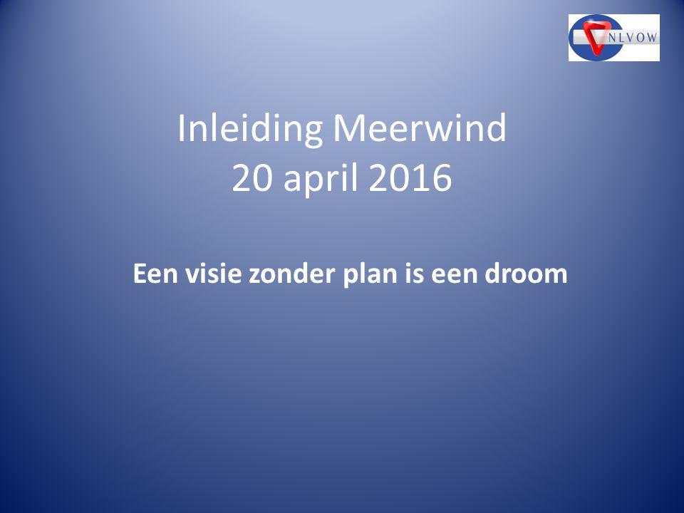 Inleiding Meerwind 20 april 2016 Een visie zonder plan is een droom