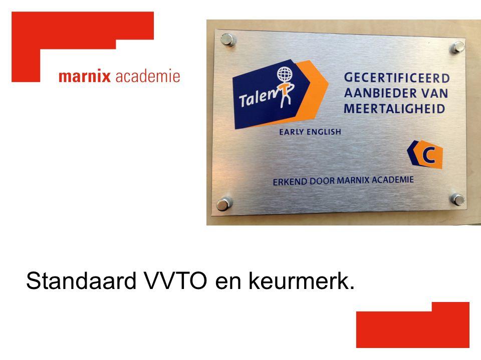 Standaard VVTO en keurmerk.