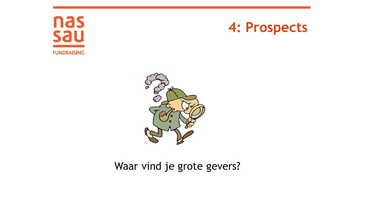 4: Prospects Waar vind je grote gevers