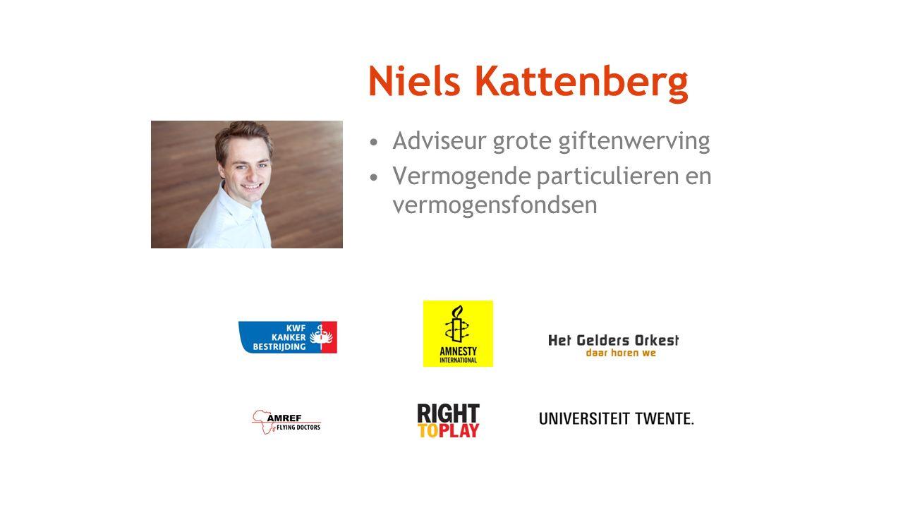 Niels Kattenberg Adviseur grote giftenwerving Vermogende particulieren en vermogensfondsen