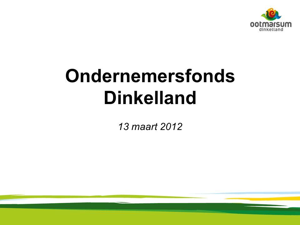 Ondernemersfonds Dinkelland 13 maart 2012
