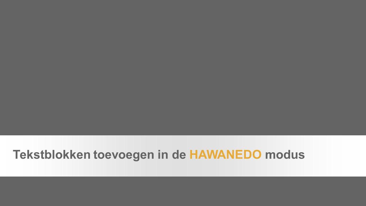 Chapter page 2 Tekstblokken toevoegen in de HAWANEDO modus
