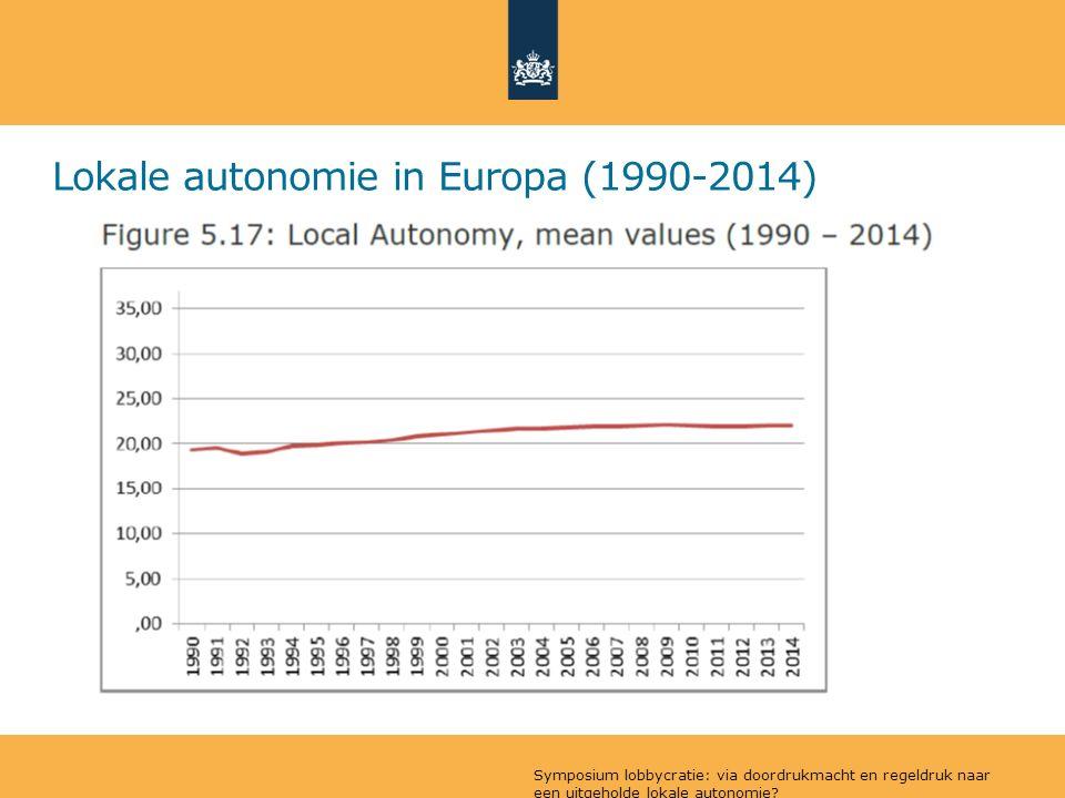Lokale autonomie in Europa (1990-2014) Symposium lobbycratie: via doordrukmacht en regeldruk naar een uitgeholde lokale autonomie?