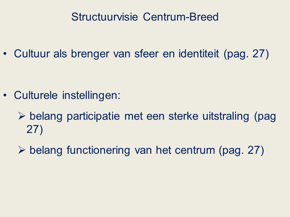 Structuurvisie Centrum-Breed Cultuur als brenger van sfeer en identiteit (pag.