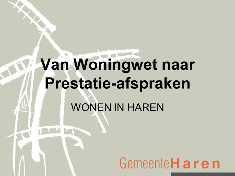 Van Woningwet naar Prestatie-afspraken WONEN IN HAREN