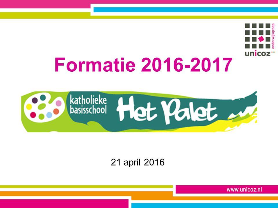 Formatie 2016-2017 21 april 2016