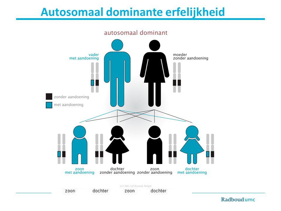 Autosomaal dominante erfelijkheid