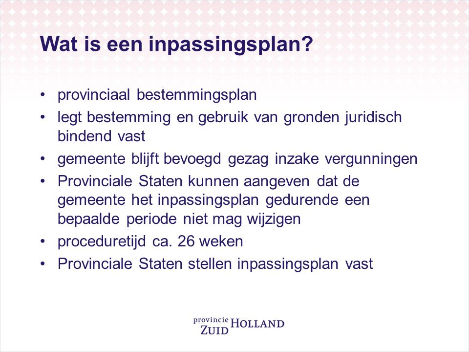Wat is een inpassingsplan.
