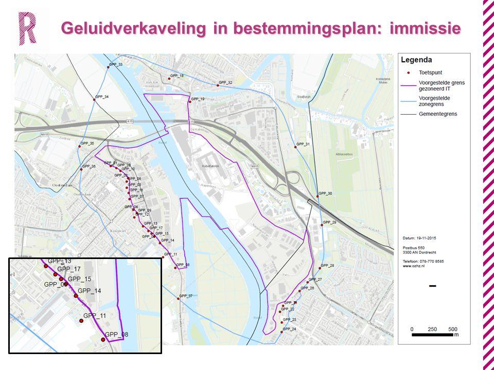 Geluidverkaveling in bestemmingsplan: immissie