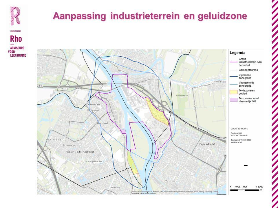 Aanpassing industrieterrein en geluidzone