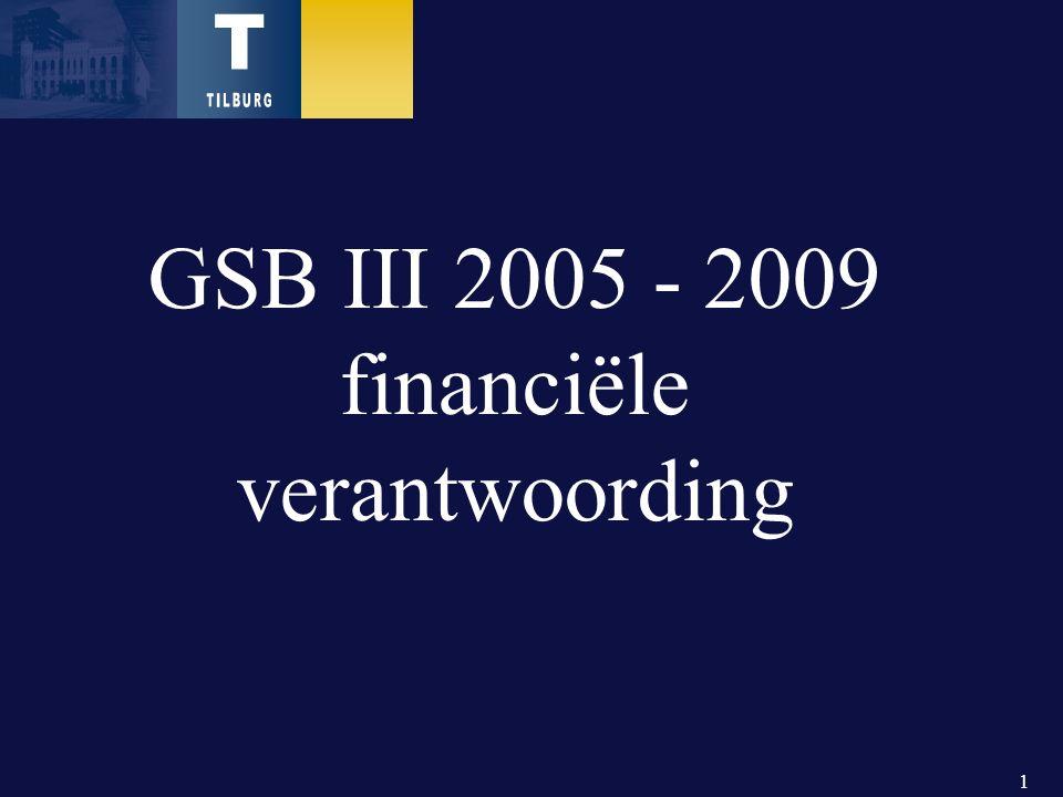 1 GSB III 2005 - 2009 financiële verantwoording