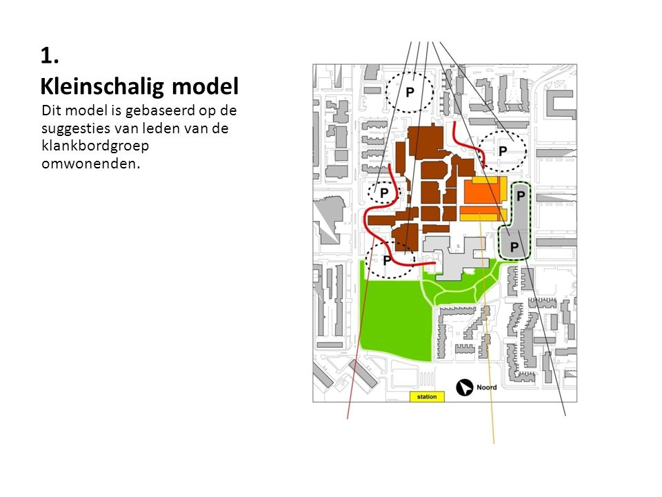 1. Kleinschalig model Dit model is gebaseerd op de suggesties van leden van de klankbordgroep omwonenden.