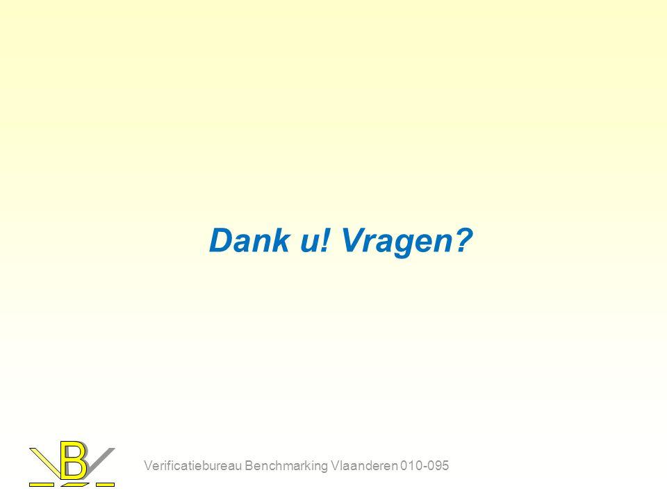 Dank u! Vragen Verificatiebureau Benchmarking Vlaanderen 010-095