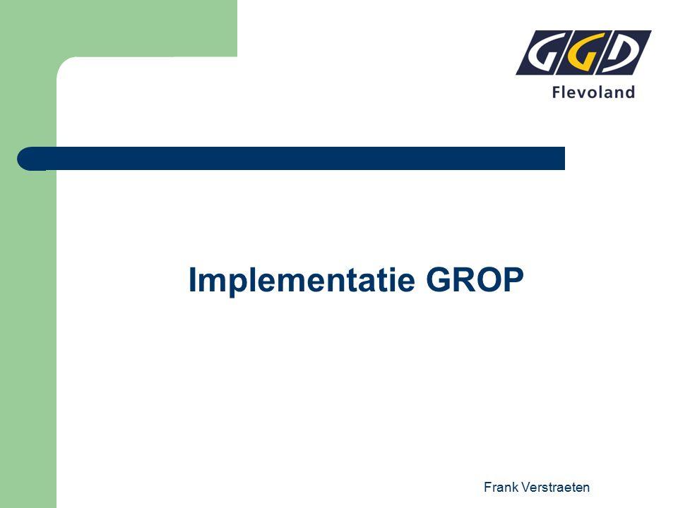 Frank Verstraeten Implementatie GROP