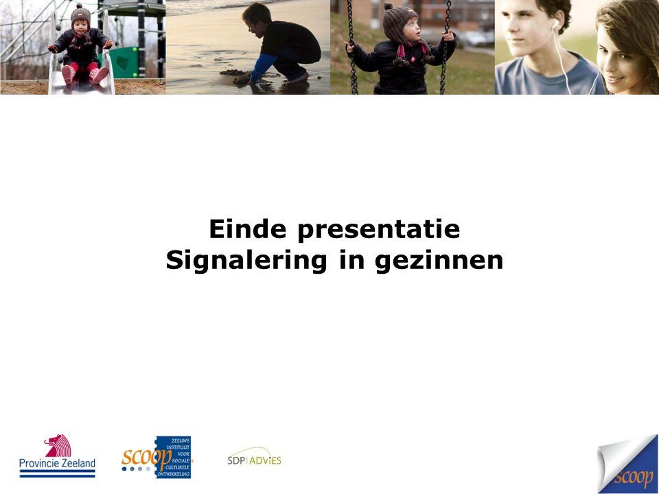Einde presentatie Signalering in gezinnen