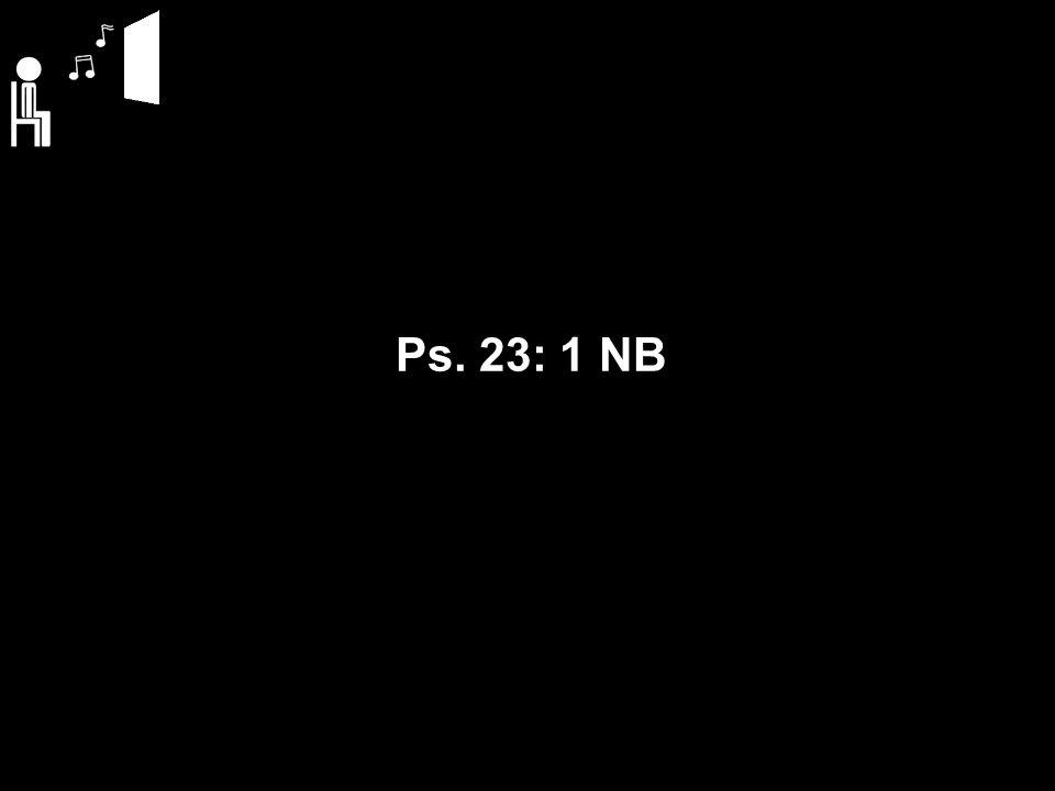 Ps. 23: 1 NB