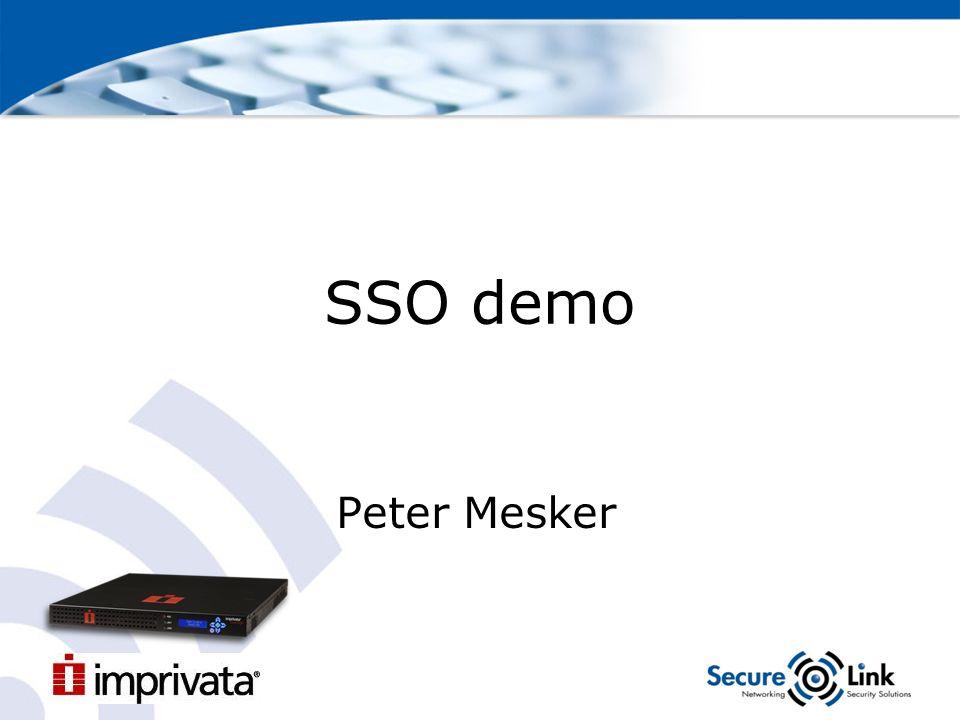 SSO demo Peter Mesker