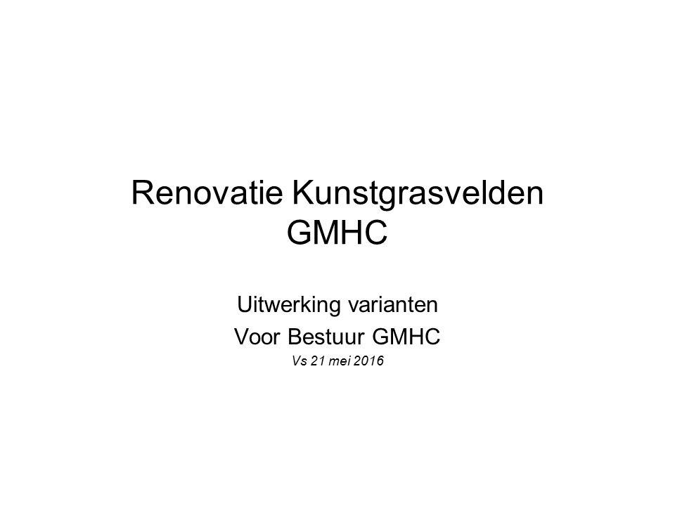 Renovatie Kunstgrasvelden GMHC Uitwerking varianten Voor Bestuur GMHC Vs 21 mei 2016